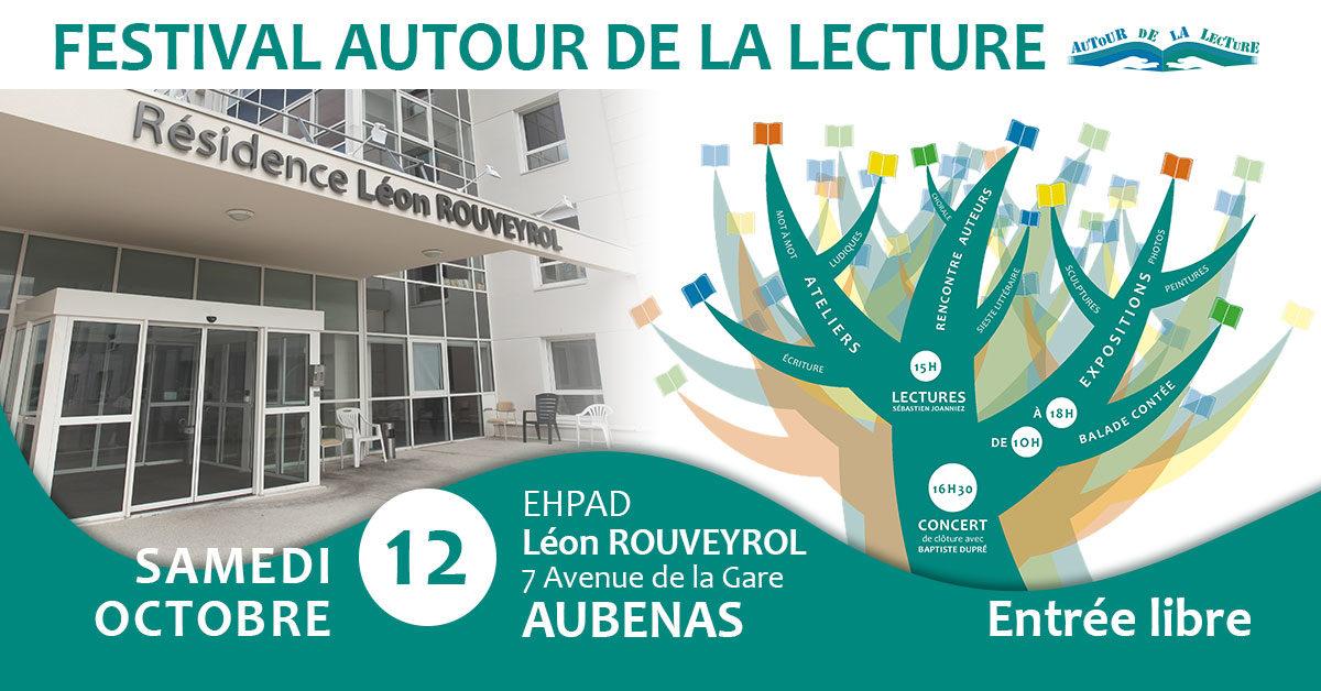 Le 1er Festival Autour de la Lecture à l'EHPAD Léon Rouveyrol, le samedi 12 octobre 2019