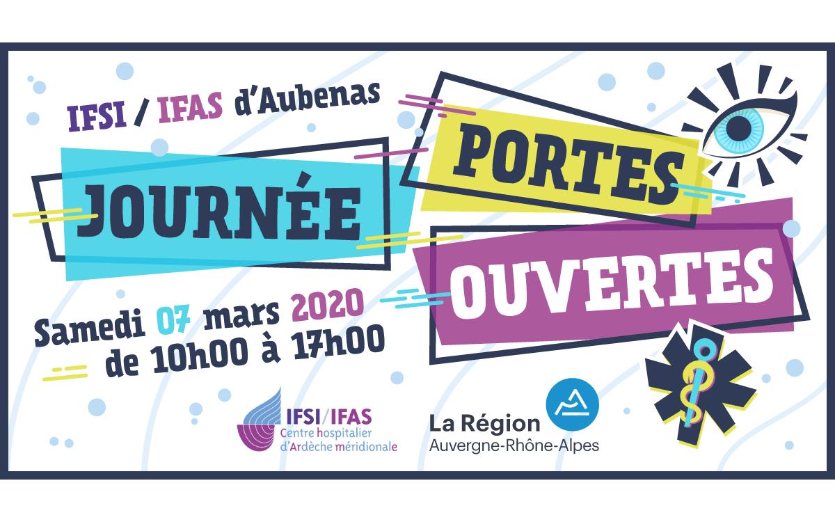 Journée Portes Ouvertes de l'IFSI / IFAS d'Aubenas : samedi 7 mars 2020