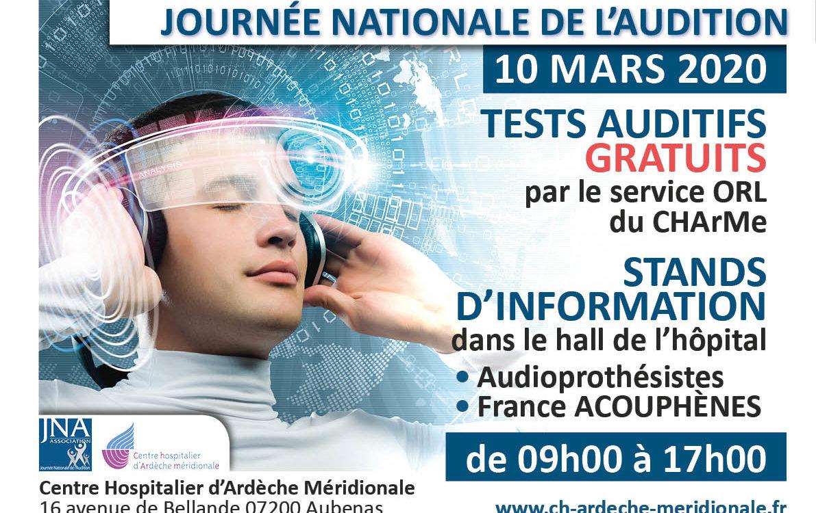 Affiche : dépistage Audition le 10 mars 2020
