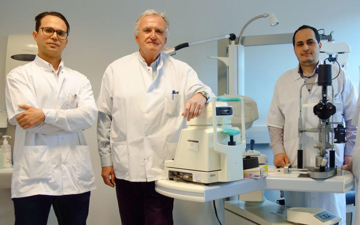 Ophtalmologie : photographie de l'équipe des praticien.