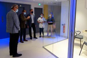 rénovation pôle cancérologie - espace d'accueil