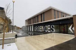 la façade du nouveau bâtiment des urgences